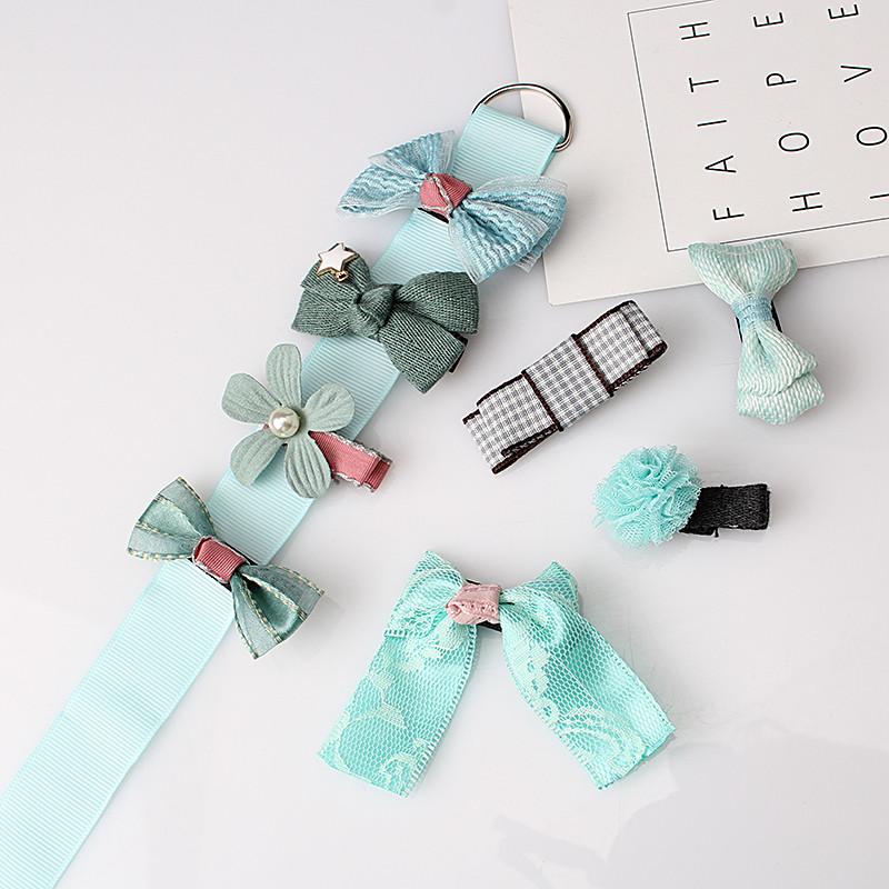 HTB1lc91OpXXXXXkapXXq6xXFXXXY Fashionable Kids 8-Pieces Multi-Style Ribbon Bow Flower Hair Barrette Set - 5 Styles