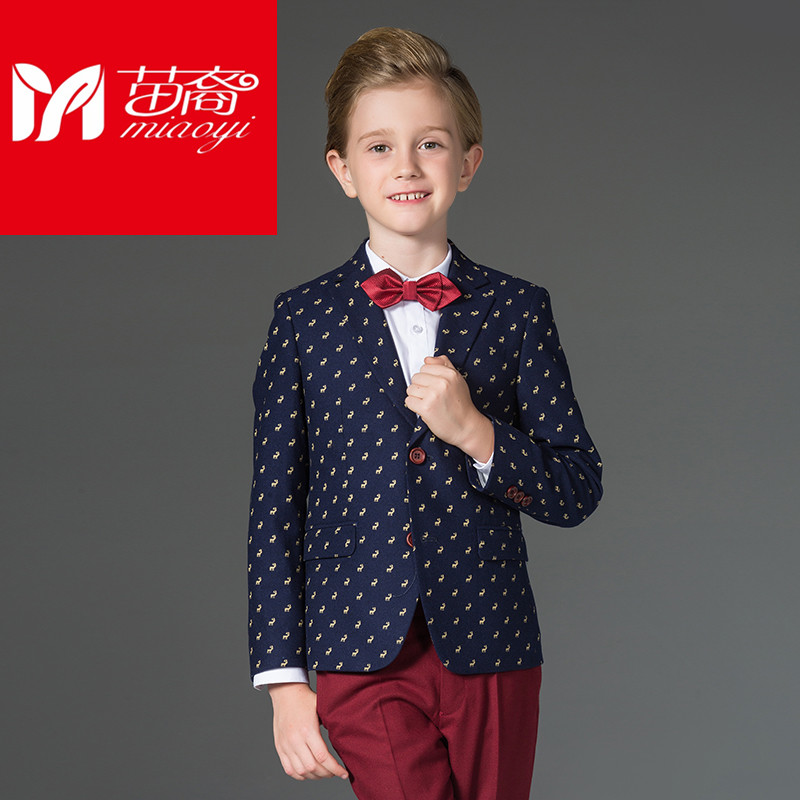 England style Boys Jacket and fashion Kids coat Suit Spring Clothing Set Formal Dress england style slim fit suit black size l