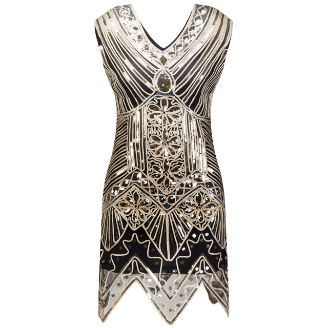 Sequin 1920s Great Gatsby Dress