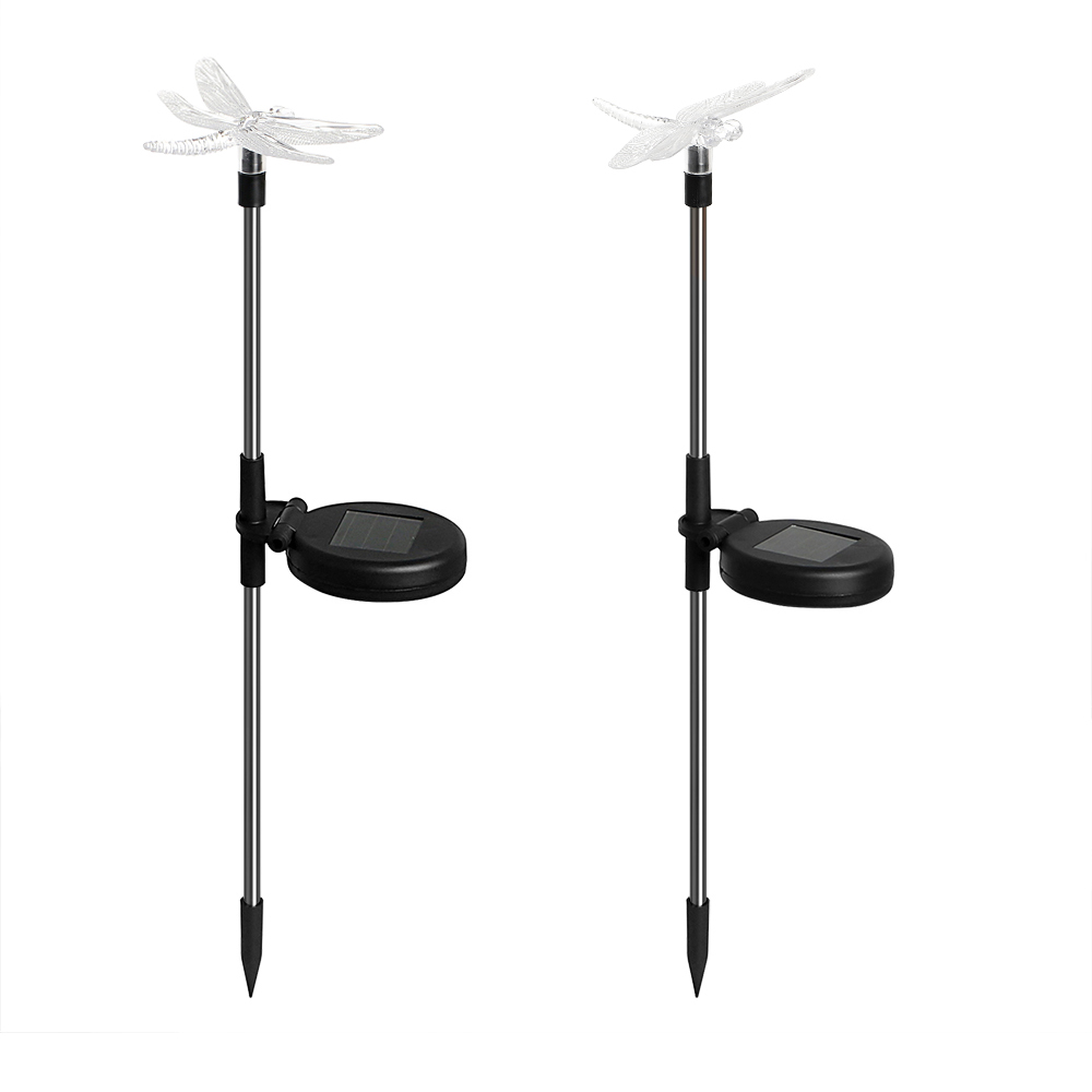 1 Pair Dragonfly/Butterfly/Bird Path Landscape Light LED Solar Lamps Garden  Patio Decoraton