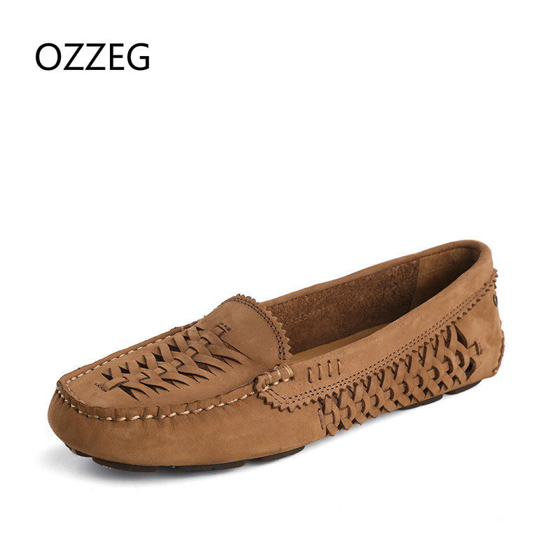 Real Leather Breath Women Flats Soft Comfortable Slip on Loafers Women's Flat Shoes Moccasins Genuine Leather Driving Shoes New women shoes 2018 new footwear slip on ballet hollow genuine breathable soft flat shoes women comfortable loafers shoes ladies