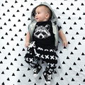 Racoon T-Shirts Cross Pants Baby Clothes Suit Newborn Clothing Set Children Tees Shirts Haren Pants 1 2 3 4 5 6 Year Boys Suit
