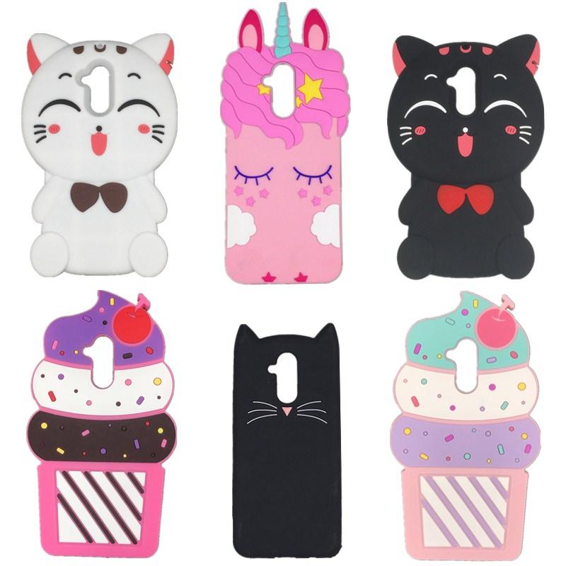 Мягкий силиконовый чехол для телефона Huawei Mate 20 Lite, с 3d-рисунком мороженого, единорога, лошади, кота, чехол для телефона Huawei Mate 20 Lite, чехол для т...