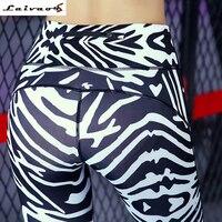 Rayé Maille Splice De Yoga Pantalon Femmes Top Qualité Pantalon Noir et Blanc Spandex Zebra Imprimer Courir Sexy Fitness sport Leggings
