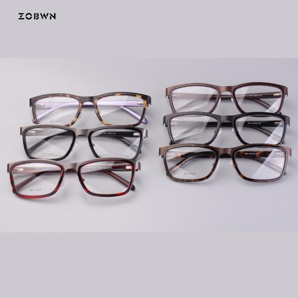 ZOBWN mix wholesale retro glasses fashion Style Eyewear Frame Women Optical Eyeglasses Computer Glasses Frame nerd