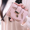 2017 Fashion Wallet Women Lady Short Wallets Women Purse Female 5 Colors Women Wallet  PU Leather Card Holder Day Clutch H26