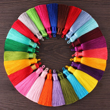12pcs/lot 8cm tassel with Hanging ring silk fringe sewing bangs trim decorative key tassels for curtains home decoration