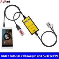 Car Radio USB AUX Adapter 3.5mm Interface CD Changer for Volkswagen Beetle Golf Polo Passat Touran for Audi A3 A4 TT for Skoda