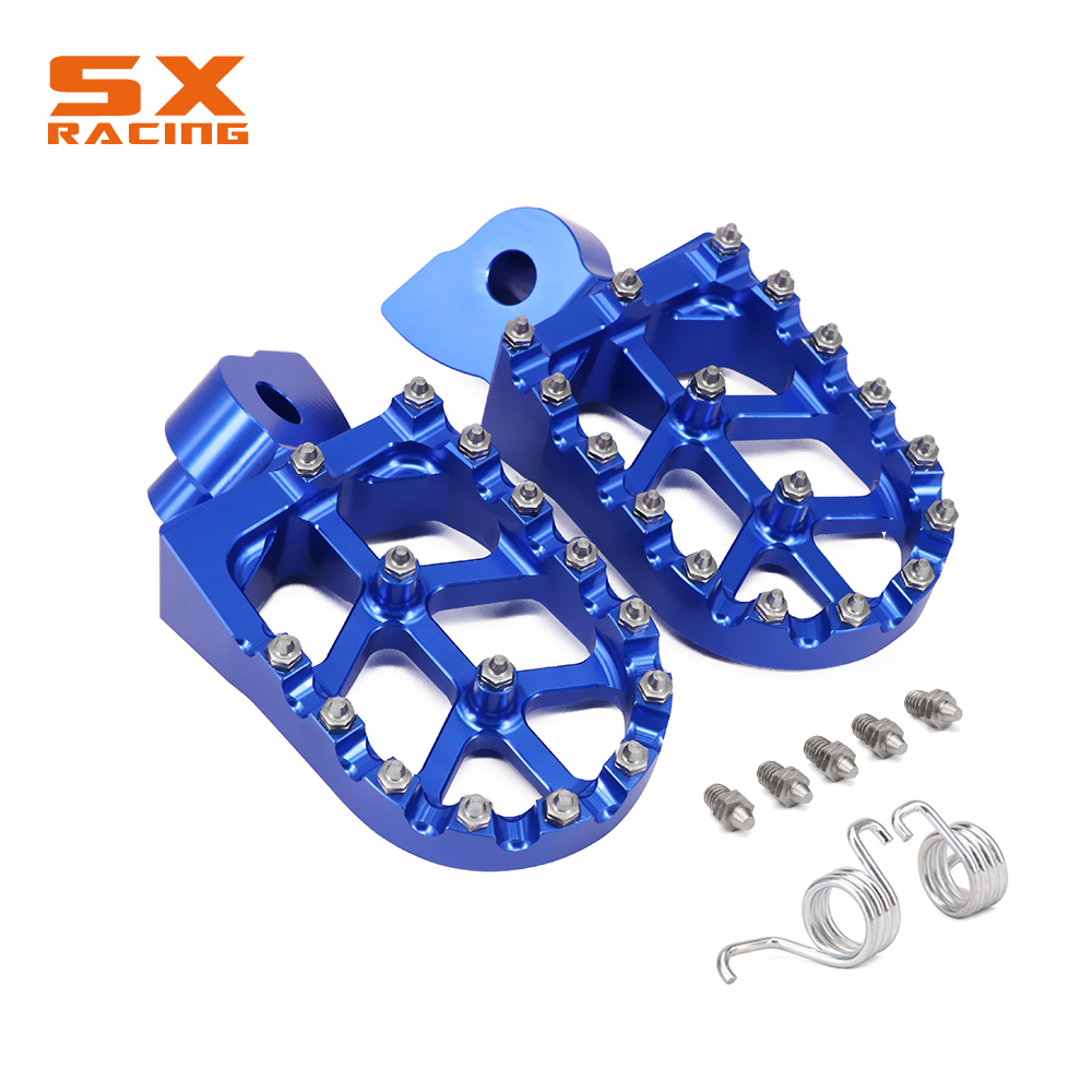 Motorcycle CNC Foot Pegs Footpeg Pedals Rest ForYAMAHA YZ 85 125 250 YZ250F YZ426F YZ450F YZ250X WR250F WR400F WR426F WR450F