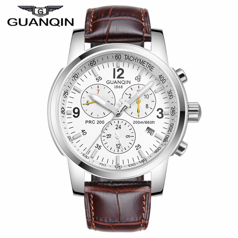 2016 New Fashion Watches Men Luxury Brand GUANQIN Men s Hour Analog Sports Watch Man Army