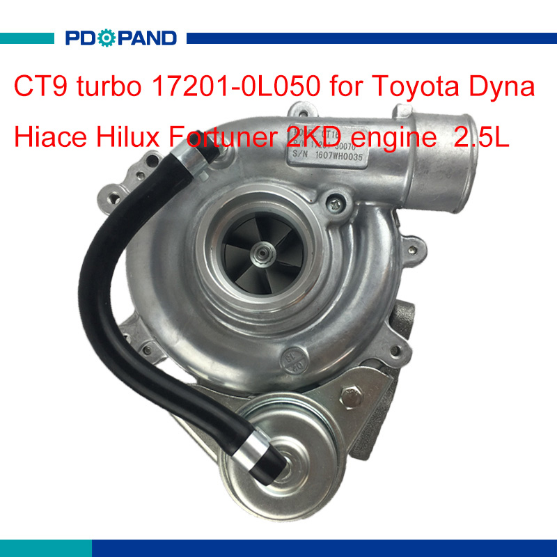 2KD diesel engine turbo kit CT9 turbo charger 17201 0L050 17201 30070 for Toyota Hiace Hilux Dyna Regiusace Fortuner 2.5Lcharger chargercharger forcharger turbo -