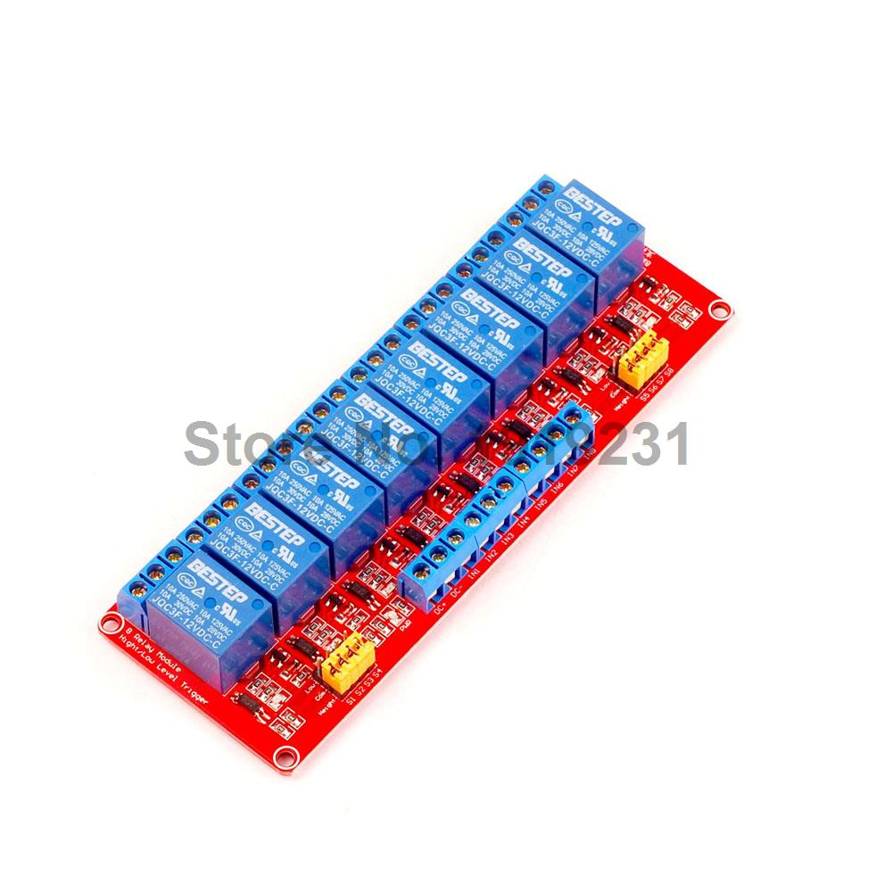 1PCS 8 Channel 12V Relay Module With Optocoupler Isolation Supports High and Low Trigger 16 channel relay module low level trigger relay control panel with optocoupler dc12v for plc automation equipment control