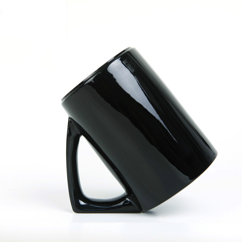 Creative 45 Degrees Inclined Drinkware Mugs Ceramic Bone China Inverted <font><b>Cup</b></font> for Drinking Coffee Tea Black/<font><b>White</b></font> Gifts <font><b>Cool</b></font> Stuff