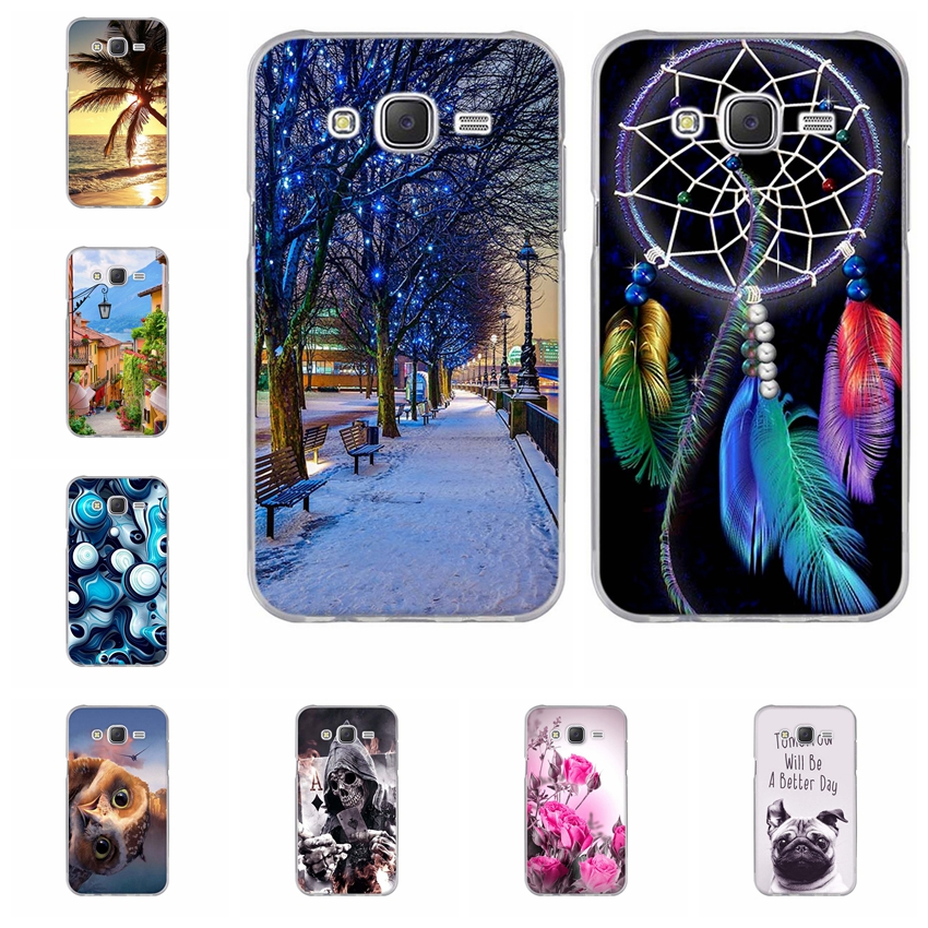 Fashion Painted Pattern TPU Silicone Soft For Samsung Galaxy J5 Case For Samsung Galaxy J5 2015 J500 Cell Phone Back Cover Case image