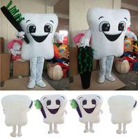 Новинка 2018 года улыбающийся зуб стоматолог маскоты костюм для взрослых нарядвечерние платье Рождественский подарок