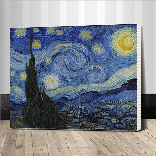 La Famosa Abstracta Pintura Al óleo De Van Gogh Para Colorear Por Números Cuadros Arte De La Pared Decoración En Las Fotografías De Lona Para La Sala