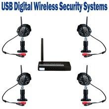 2.4 ГГц USB Цифровой Беспроводной Комплект Безопасности WI-FI Без помех Ip-камера ИК Motion Обнаружения Изображения Запись Видео Водонепроницаемый