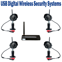 2.4GHz USB Digital Wireless Security Kit WIFI Interference Free IP Camera IR Motion Detection Image Video Record Waterproof