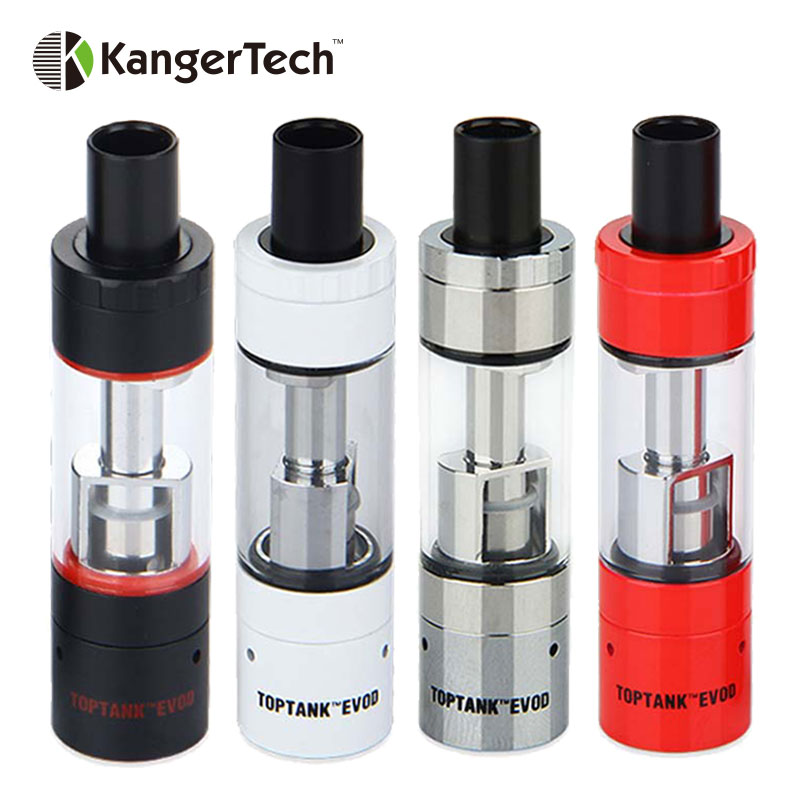 100% Original Kanger Toptank EVOD Clearomizer Atomizer Vape 1.7ml Tank Top filling fit VOCC-T head/VOCC Coil/Upgraded Dual Coil