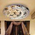 Lustre de Cristal moderna LEVOU Luzes Da Estrela Da Lua de Cristal Luminária Lustre luminaria Quarto Interior Iluminação 90 ~ 260 V WCL036
