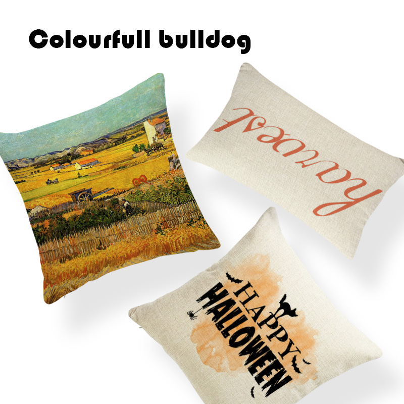 Cool Harvest Carnival Happy Fall YAll Thanksgiving Pumpkin Cushion Covers Pillow Square Linen Decor Crowe Halloween Kussenhoes