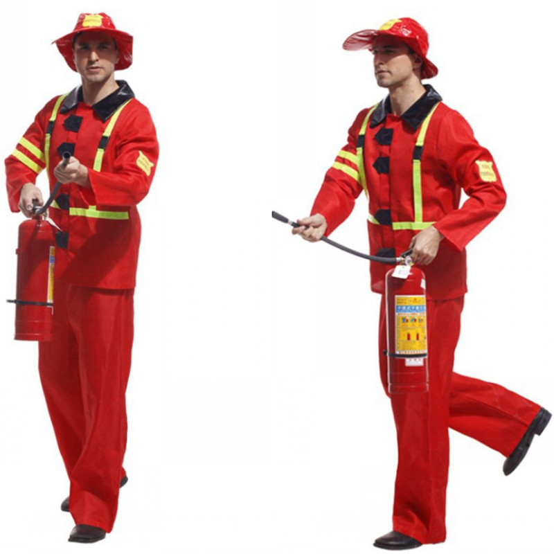 new high quality men firefighters cosplay costume toppants male firemen costumes stage game uniforms halloween costume for men