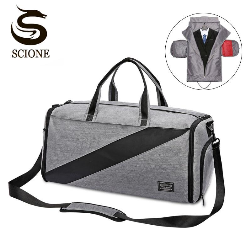Hot Waterproof Multifunction Travel Handbag Suit Bag Durable Men Business Trip Duffle Shoulder Bag For Suit