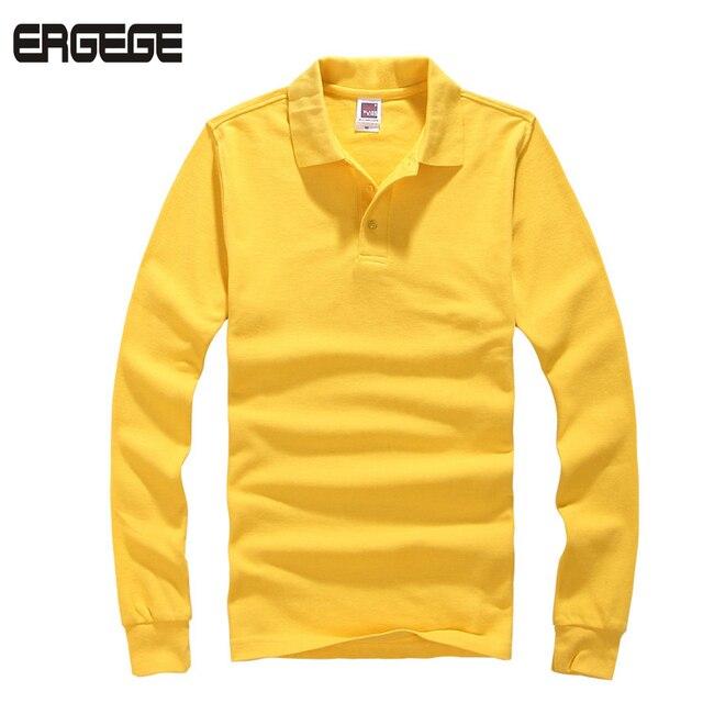 2017 Новый polo homme рубашки мужчин Бренд polo С Длинным рукавом мужчин polo Хлопок нагрудные Европейский размер S-3XL бесплатная доставка Твердого Рубашка