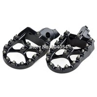 For Suzuki RM Z250 2007 2008 2009 Billet CNC Wide Foot Pegs Footrests 57mm Black