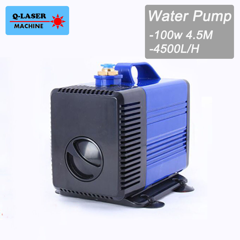 Submersible Water Pump 100W 4.5M 4500L/H IPX8 220V for CO2 Laser Engraving Cutting Machine 100w 220v shower booster water pump