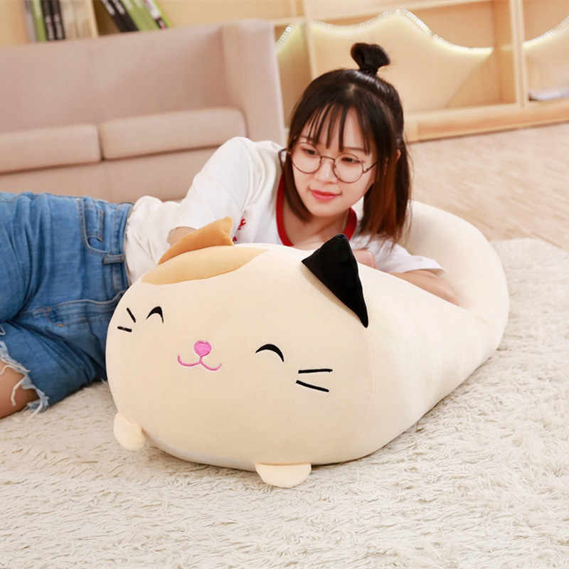 Lembut Hewan Kartun Bantal Bantal Lucu Fat Anjing Kucing Totoro Penguin Babi Katak Mewah Mainan Boneka Indah Anak Ulang Tahun Hadiah