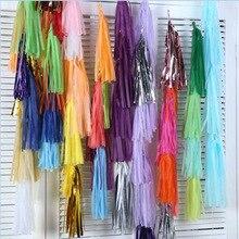 5pcs/bag 14inch Tissue Paper/Foil Tassel DIY Set Garland Ribbon Balloons Baby Shower Birthdays Party Wedding Decoration