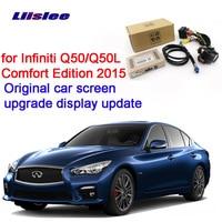 LiisLee Rear Backup Camera Interface Kit for Infiniti Q50 Q50L Comfort Edition 2015 RMC NavPlus 4WD system CCD HD