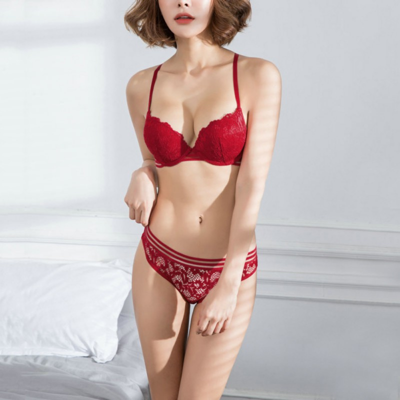 Sexy Push Up   Bra     Brief     sets   Lace Women Underwear Cup B Lace   Bra     Set   Panty   Set   Intimates Women Comfortable   Bra     Brief     Sets