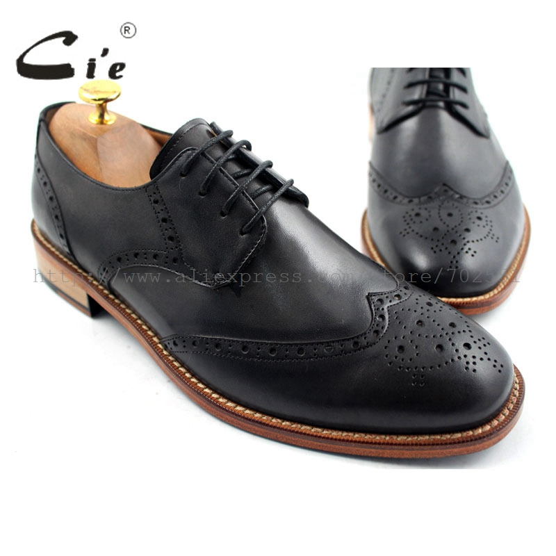 cie Free shipping mackay craft Bespoke handmade pure genuine calf leather outsole men's dress/classic derby dark gray shoe D47 ct10x new wireless bluetooth 1d barcode scanner mini barcode reader for ios android windows system bar scanner free shipping