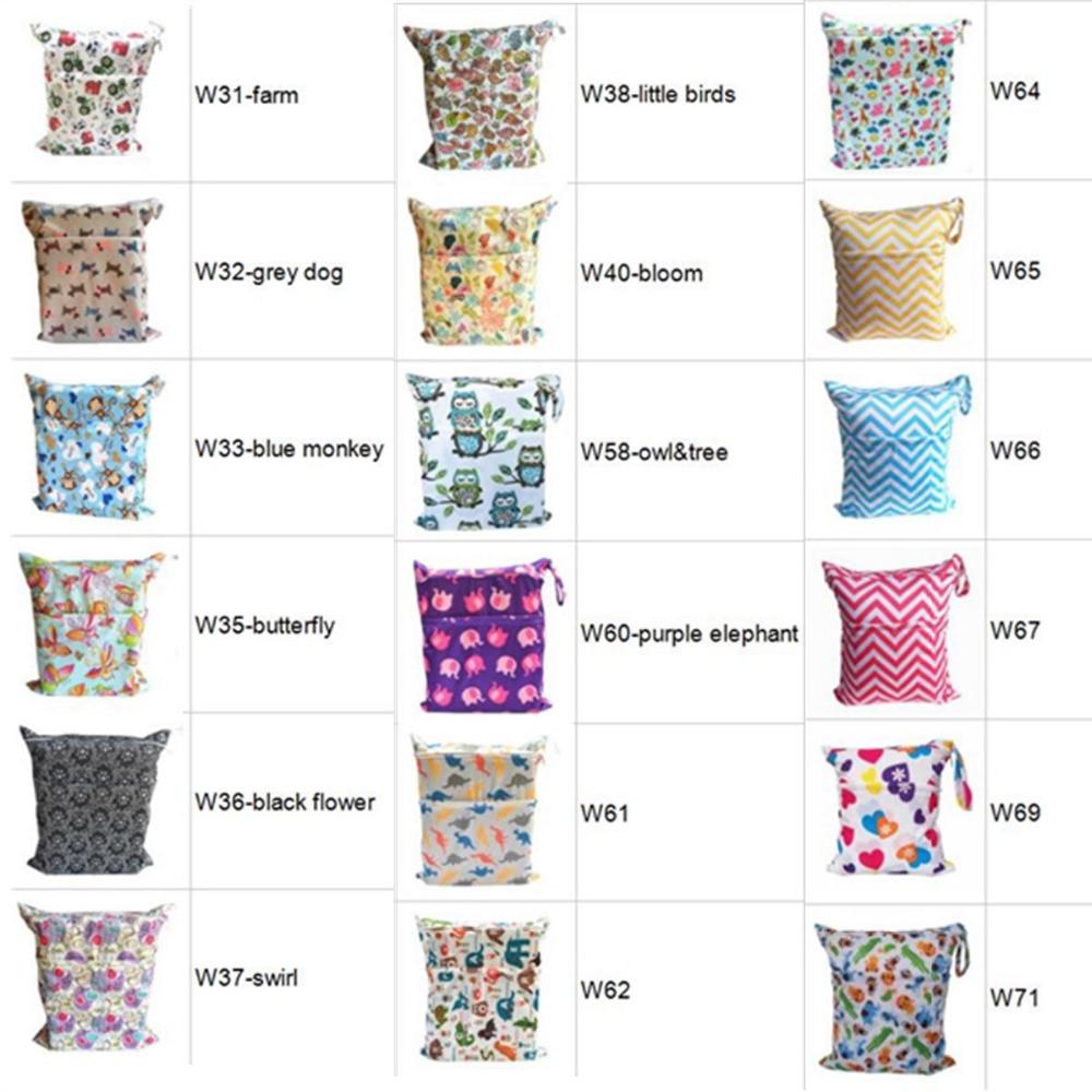 HTB1lcCgXorrK1RkSne1q6ArVVXaG [Sigzagor]Wet Dry Bag With Two Zippered Baby Diaper Bag Nappy Bag,Waterproof Reusable 36cmx29cm Owl&Tree 100 Designs