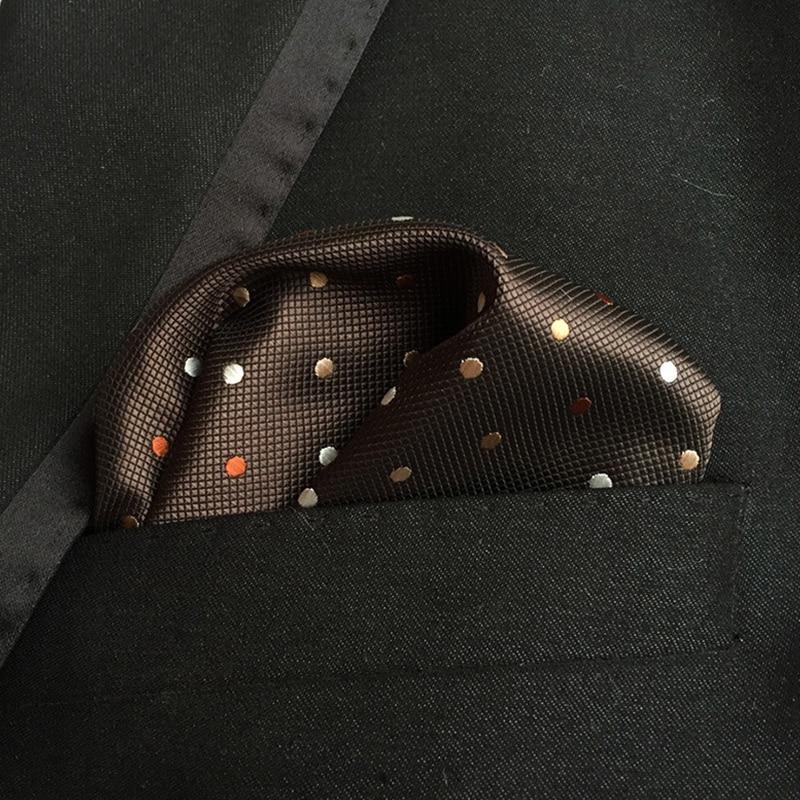 Mantieqingway 25 * 25cm Mäns affärsdrag Pocket Square näsdukar - Kläder tillbehör - Foto 3
