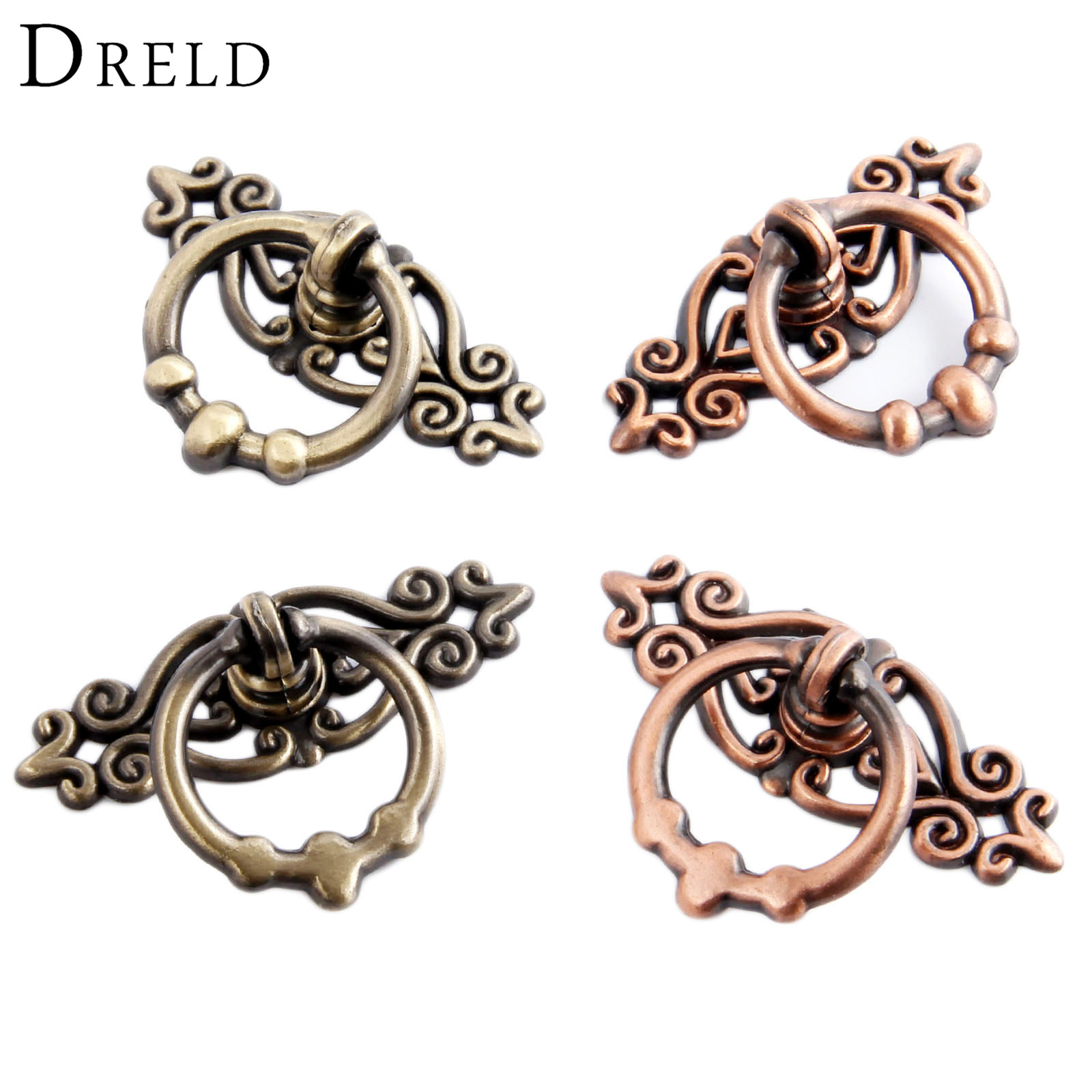 DRELD 2Pcs Antique Furniture Handles Vintage Cabinet Knobs and Handles Kitchen Cupboard Dresser Door Drawer Ring Pull Handles marshall s tendencies – what can economists know