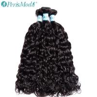 PerisModa Hair Water Wave Bundles Peruvian Hair Weave 1 / 3 / 4 Bundle Deals 10 28 Inch Natural Color Remy Human Hair Extensions