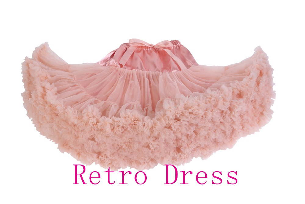 High quality Teenage women adults mixed color chiffon extra fluffy pettiskirt tutu Women dance tutu Party skirt