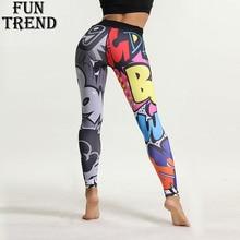цены на Sport Leggings Women Fitness Yoga Pants Cartoon Print Sport Pants Yoga Leggings Breathable Gym Jogging Running Tights Sport Wear  в интернет-магазинах