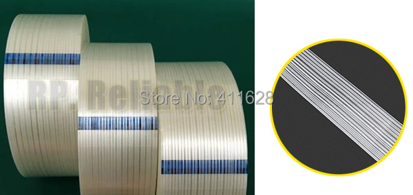 ФОТО 1x 35mm*55M 3M Strong Strength Tensile Adhesive Filament Tape, for Heavy Carton Pack, Wood Metal, Home Appliance Shipping Fasten