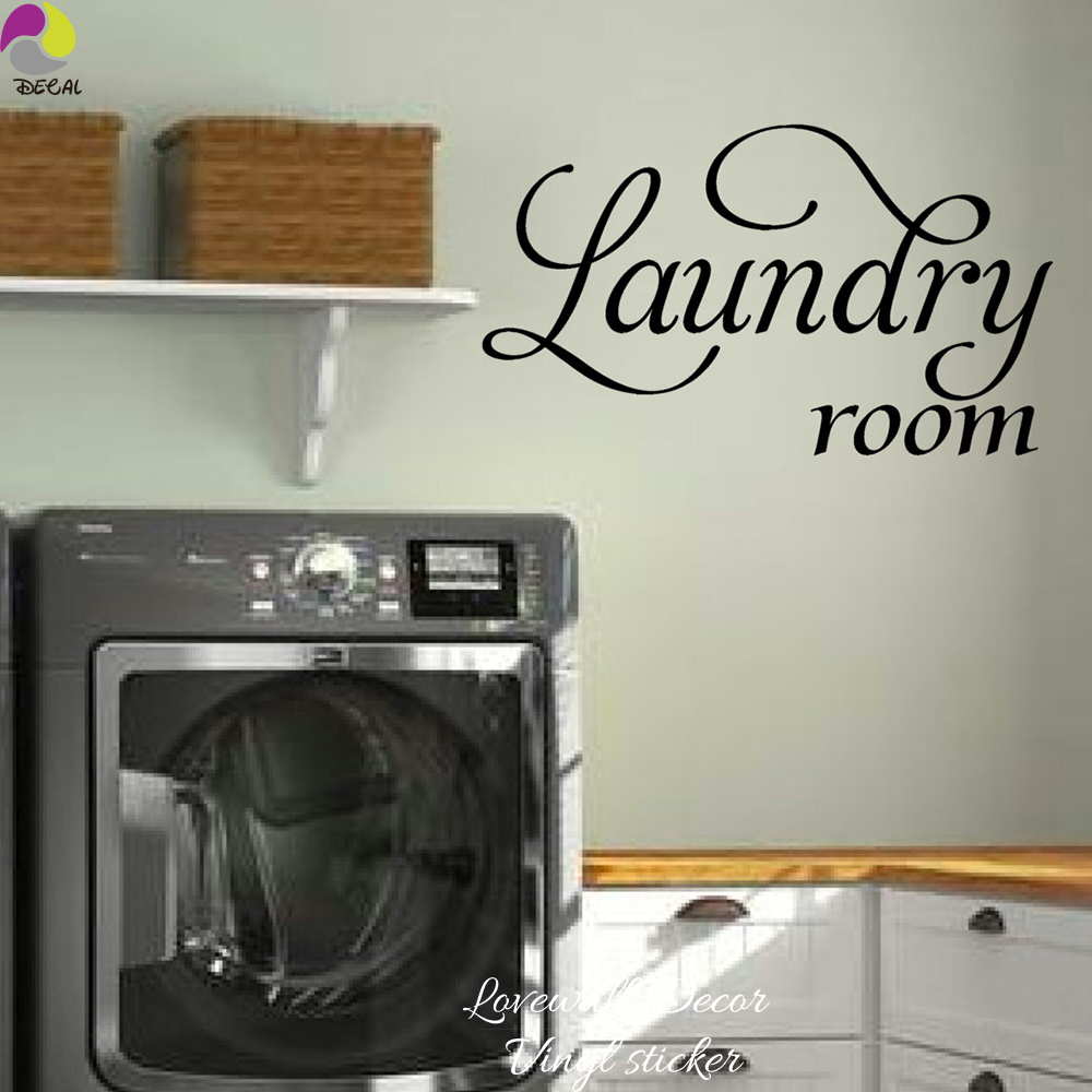 Laundry Room Sign Wall Sticker Laundry Room Wall Decal Cut ...