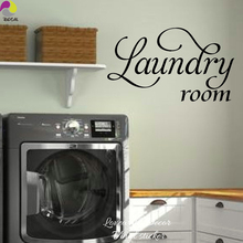 Laundry Room Sign Wall Sticker Laundry Room Wall Decal Cut Vinyl Home  Decoration Easy Wall Art Mural DIY