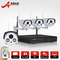 1TB HDD Wireless CCTV System 4CH NVR P2P WIFI IP Camera 720P H.264 HD 2Array IR Outdoor Home Security Surveillance System&Remote