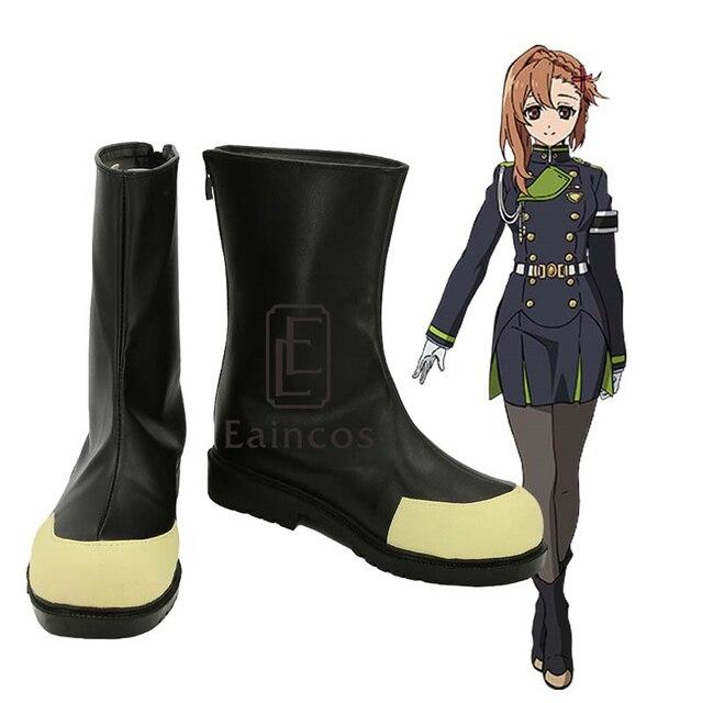 Seraph of the End Anime Sayuri Hanayori Cosplay Shoes Boots Custom Made