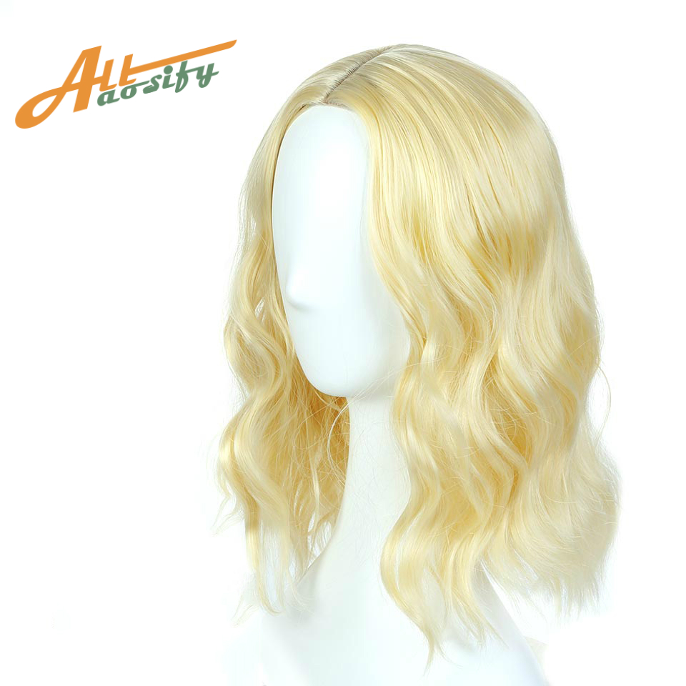 Allaosify Short Culry Wig for Women Synthetic Bob Pink Cosplay Wig Heat Resistant Wig 5 Colors