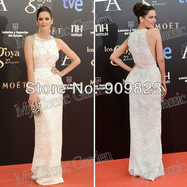 2013 Oscar Awards Mar Saura Dresses Halter Beautiful Lace Formal