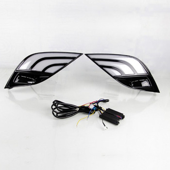 Qirun led drl daytime running light for Toyota Camry 2018 with yellow turn signal and wireless control