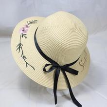 SUOGRY 2019 New Female Summer Beach Hat Sun Travel Ladies Wild Big Flower Cream Sunscreen Elegant